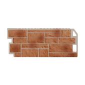 Фасадная панель FineBer Камень Терракотовый 1130х470 мм