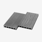 Террасная доска из ДПК UnoDeck Ultra Серый 6000х150х24 мм