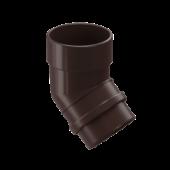 Колено 45° трубы DOCKE LUX цвет Коричневый