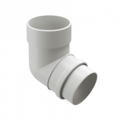 Колено 72° трубы DOCKE LUX цвет Белый