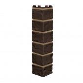 Угол Наружный Vilo Brick DARK BROWN (Кирпич коричневый с швом)